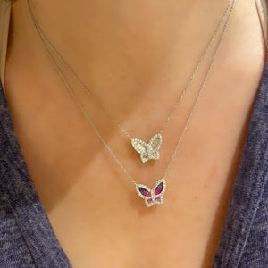 Large Diamond Butterfly Pendant