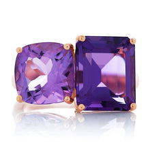 Load image into Gallery viewer, Amethyst Toi Et Moi Ring