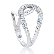 Load image into Gallery viewer, Pave Diamond Cross Over Ring