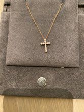 Load image into Gallery viewer, Small Diamond Cross Pendant