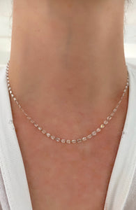 Rose Cut Pear Diamond Necklace 16""