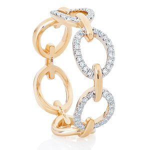 Chain Link Diamond Ring