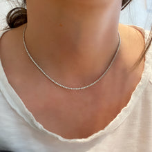 Load image into Gallery viewer, Dainty 1 Eternity Diamond Tennis Necklace