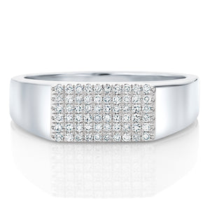 Diamond Rectangular Signet Ring