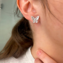 Load image into Gallery viewer, Medium Diamond Butterfly Earrings