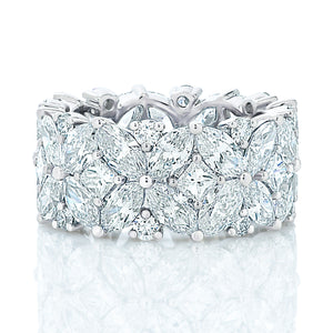 Fancy Cut Wide Diamond Band