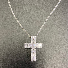 Load image into Gallery viewer, Diamond Illusion Cross Pendant
