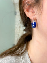 Load image into Gallery viewer, Sapphire and Diamond Hanging Earrings