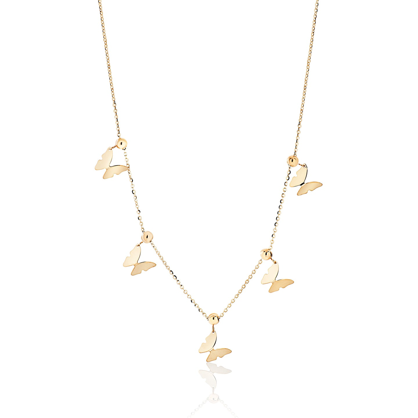 Sliding Butterfly Necklace