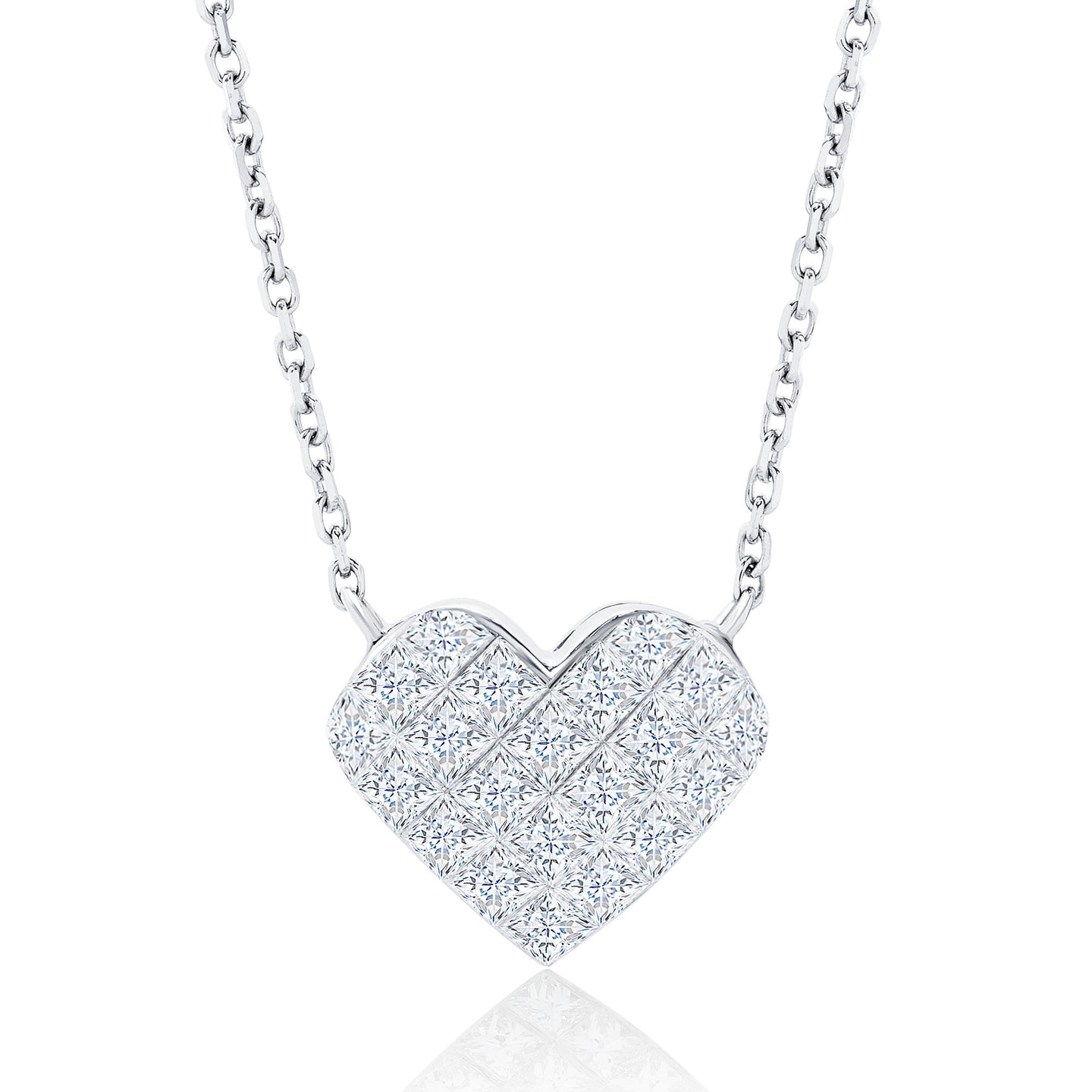 Diamond Illusion Heart Necklace