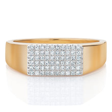 Load image into Gallery viewer, Diamond Rectangular Signet Ring
