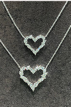 Load image into Gallery viewer, Large Mixed Cut Diamond Heart Pendant