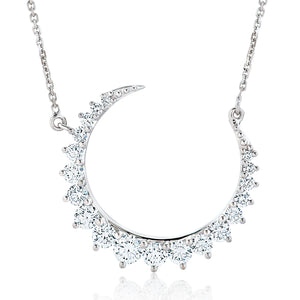 Curved Diamond Crescent Moon