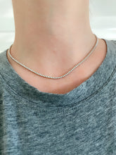 Load image into Gallery viewer, Half Way Diamond Dainty Tennis Necklace