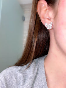 Large Diamond Butterfly Earrings