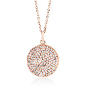 Medium Diamond Disc Pendant