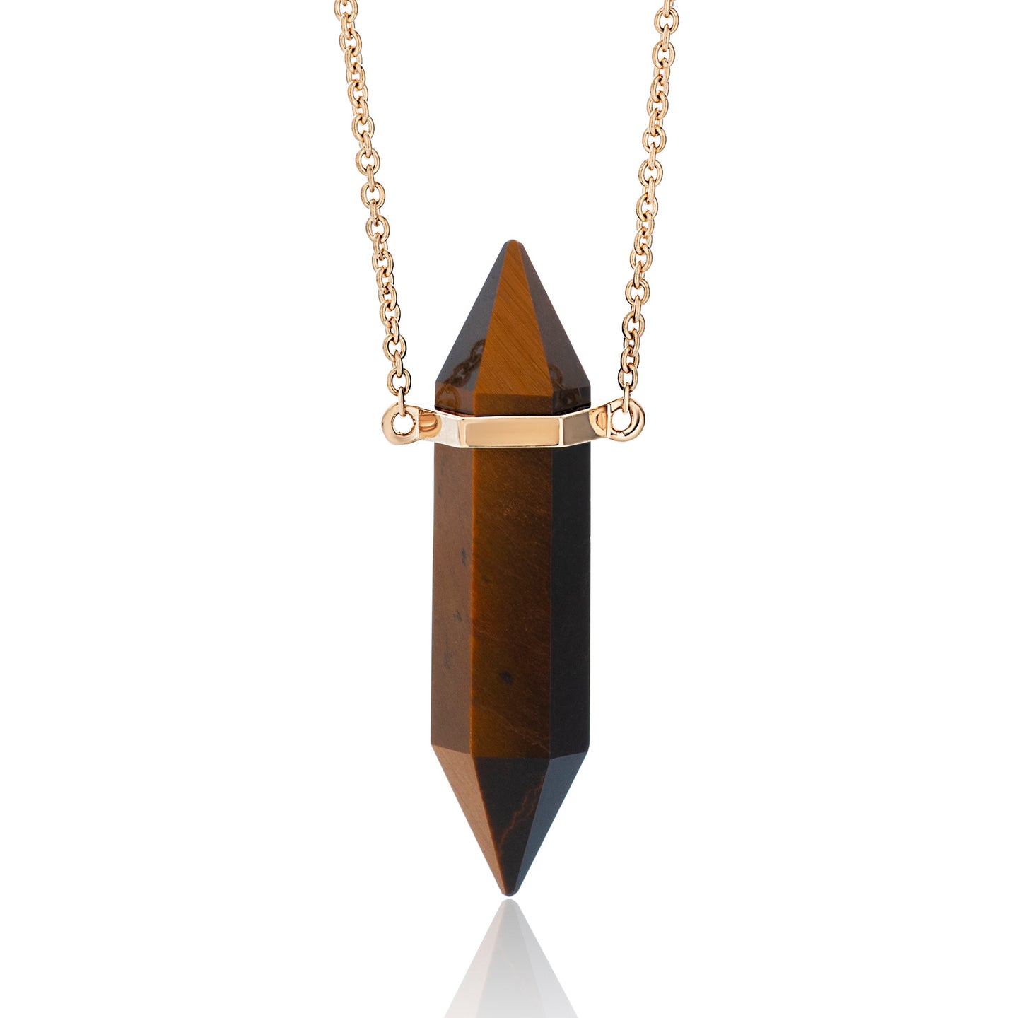 Crystal and Gold Bar Necklace