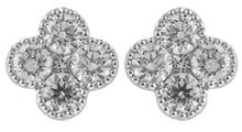 Load image into Gallery viewer, Clover Diamond Earrings