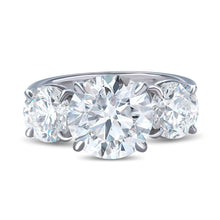 Load image into Gallery viewer, Traditional Three Stone Diamond Ring