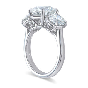 Traditional Three Stone Diamond Ring