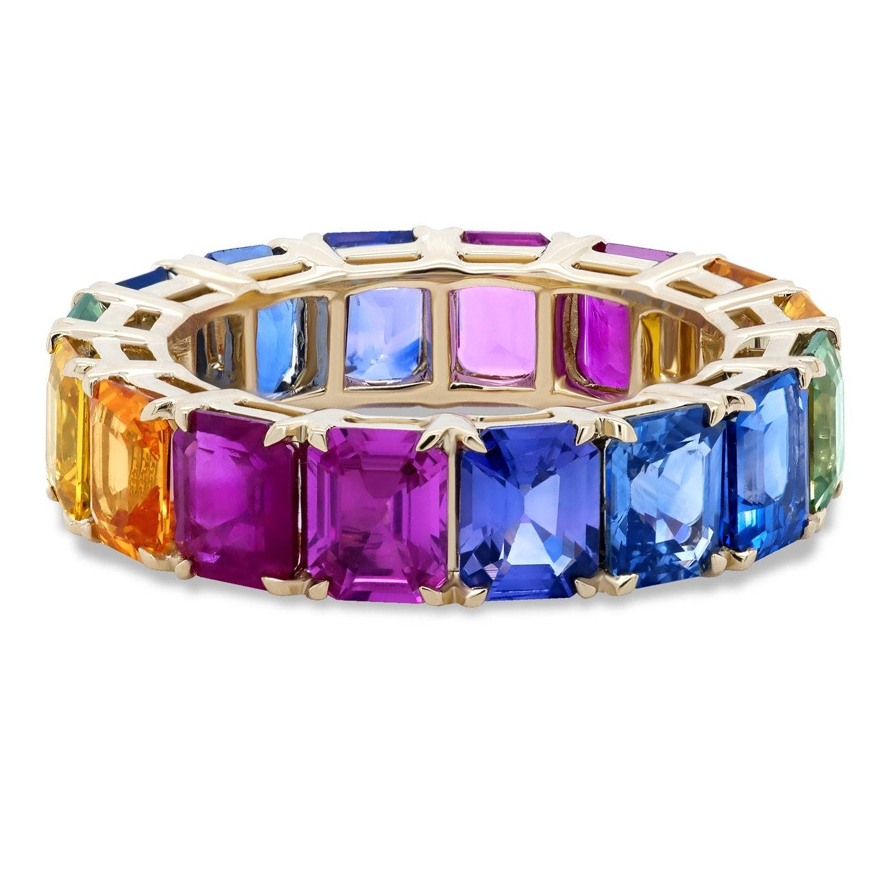 Sapphire and Ruby Rainbow Ombre Band