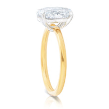 Load image into Gallery viewer, Oval Solitaire Two Tone Engagement Ring