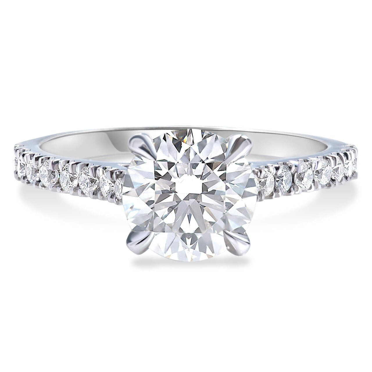Diamond Cathedral Set Engagement Ring