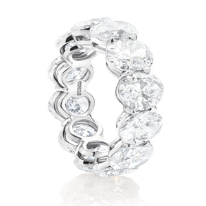 Platinum Diamond Oval Band