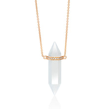 Load image into Gallery viewer, Crystal and Diamond Bar Necklace