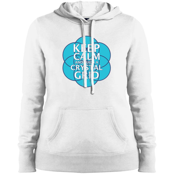 Keep Calm and Build a Crystal Grid - Sport-Tek Ladies' Pullover Hooded Sweatshirt