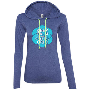 Keep Calm and Build a Crystal Grid - Anvil Ladies' LS T-Shirt Hoodie