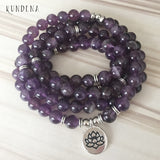 Higher Self Connection - 108 Amethyst Crystals Mala
