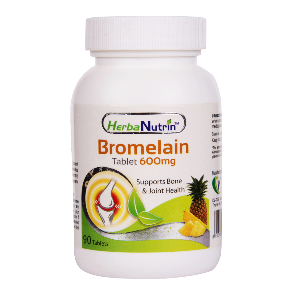Herbanutrin - Bromelain 600mg Joint Pain Relief Supplements - Herbanutrin