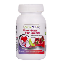 Load image into Gallery viewer, Herbanutrin Nattokinase + Pomegranate extract-Herbal Heart health Formula - Herbanutrin