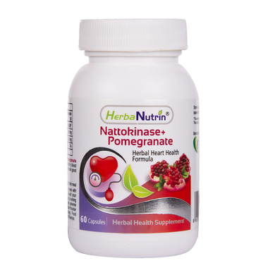 Herbanutrin Nattokinase + Pomegranate extract-Herbal Heart health Formula - Herbanutrin
