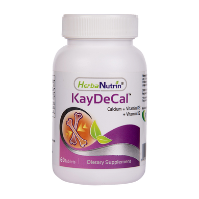 Herbanutrin Kay-De-Cal | Calcium 500+D3+K2 Supplements, - Herbanutrin