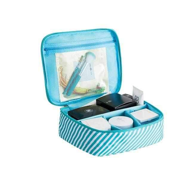 c25339b318f6d7 ... Cosmetics Bag Organizer-Makeup bags-Blue stripes B-USS ...