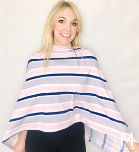 Savvy Stripe Magnetic Closure Scarf