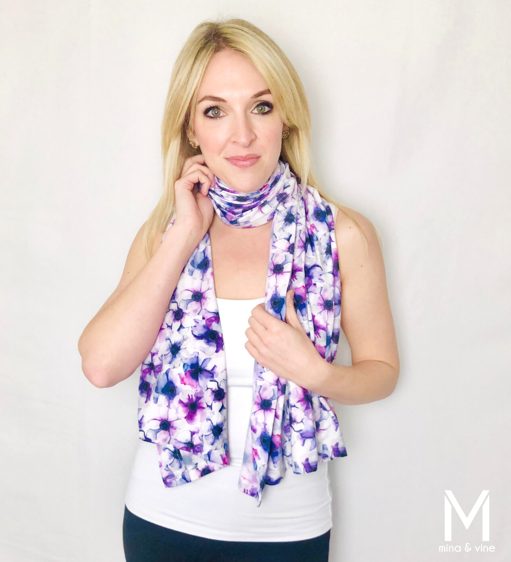Freespirited Floral Multi-Way Smart Scarf