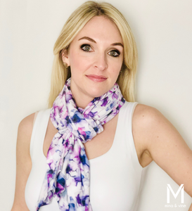 Freespirited Floral Magnetic Closure Scarf