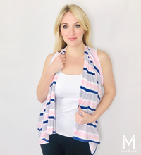 Load image into Gallery viewer, Savvy Stripe Magnetic Closure Scarf