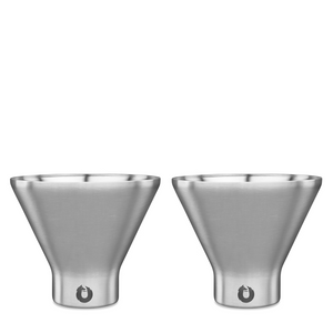 Open image in slideshow, Stainless Steel Martini Glass - Set of 2