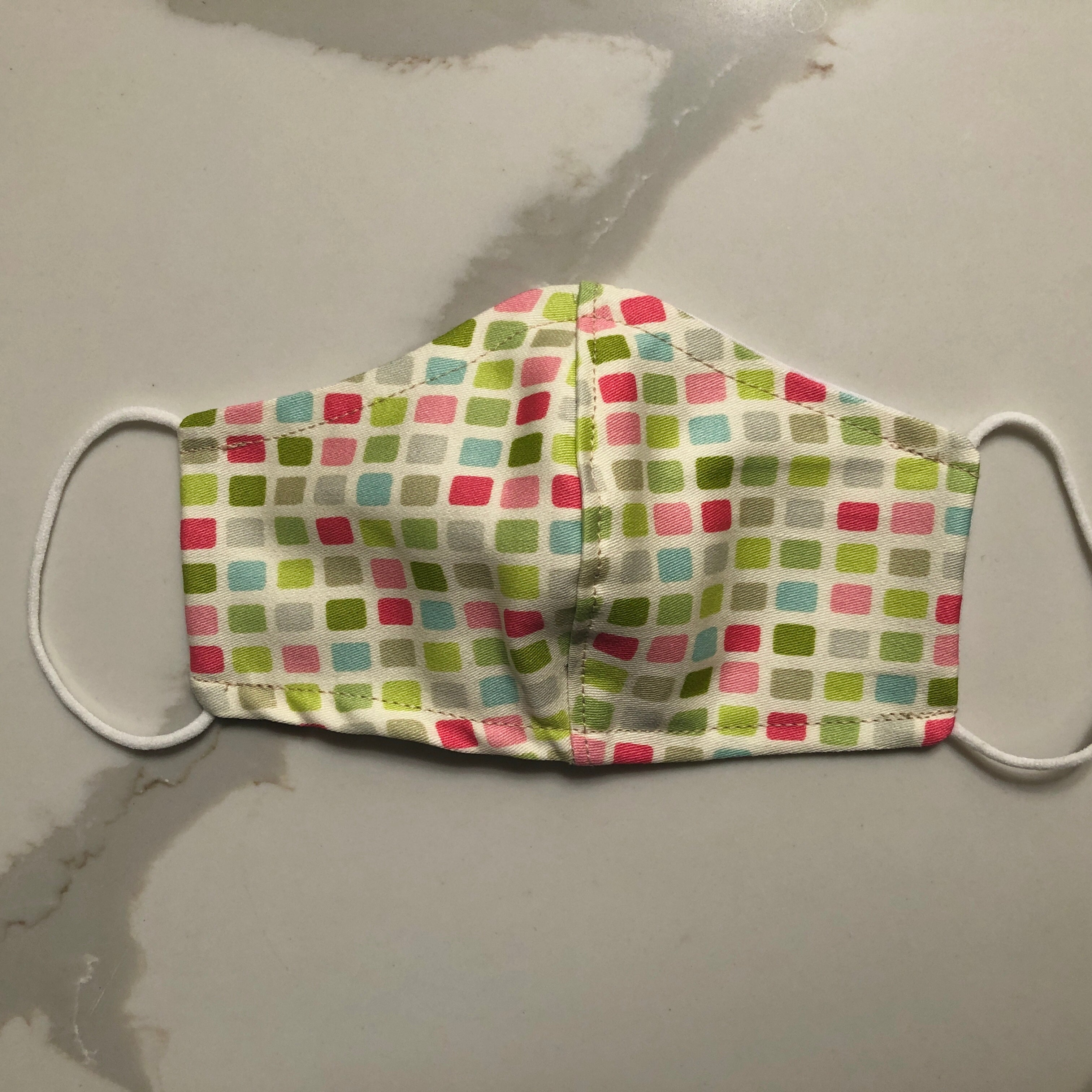 Multi Grid Print Face Mask