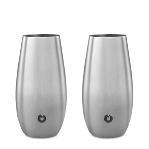 Open image in slideshow, Stainless Steel Champagne Flutes - Set of 2