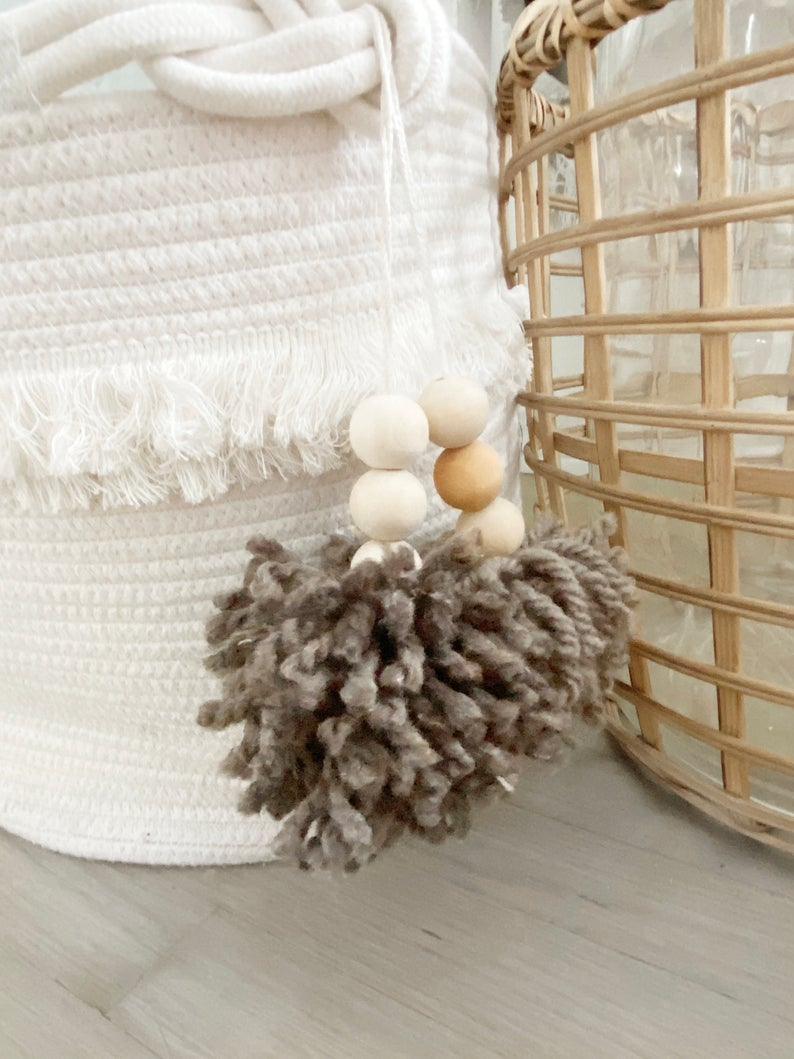 Decorative Hanging Tassel - Clay Beige