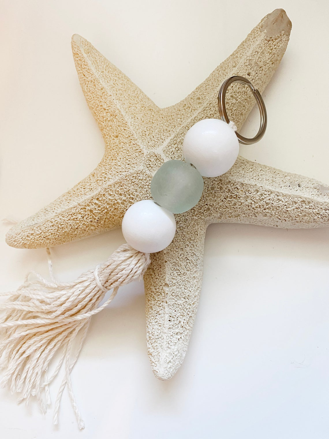 Tassel Sea Glass Key Chain