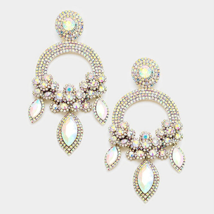 AB Crystal Pave Earrings