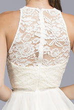 Load image into Gallery viewer, Leah Lace Halter Dress