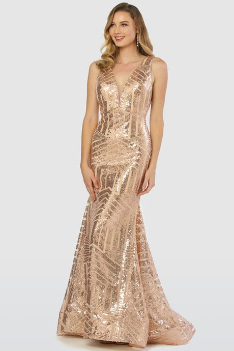 Mariah Sequin Rose Gown