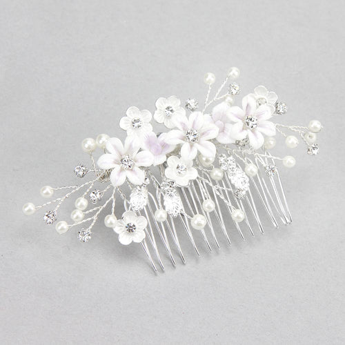 Crystal Floral Bouquet Hair Comb